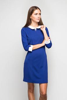 Синее платье с белым воротником Marimay