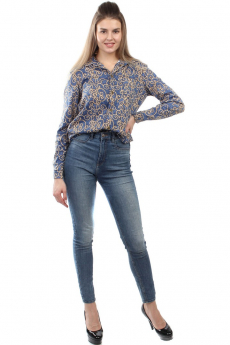 Новинка: синяя блузка с рисунком Bast