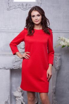Красное жаккардовое платье Look Russian