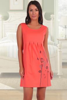 Платье кораллового цвета Натали